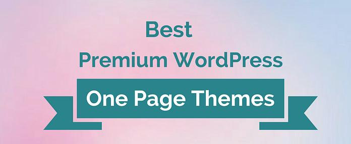 Best Premium WordPress One-Page Themes 2017