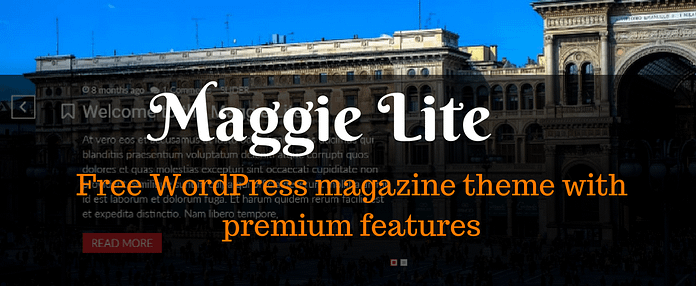 Maggie Lite - Free WordPress Magazine theme with Premium features