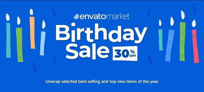 Envato Birthday Sale - 30% OFF