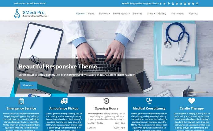 EightMedi Pro - Premium WordPress Medical Theme