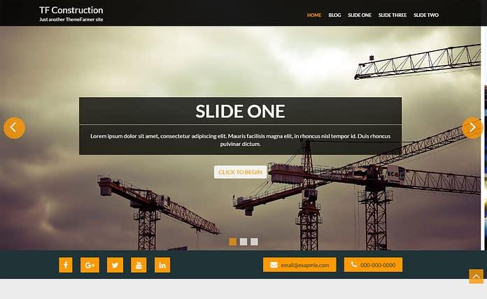 TF Construction - Free Construction WordPress Theme
