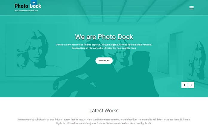 Photo Dock - Responsive Portfolio WordPress Theme