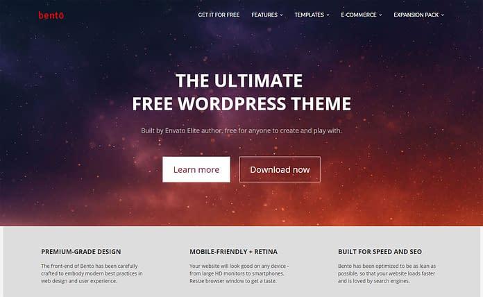 Bento - Free Powerful WordPress Theme
