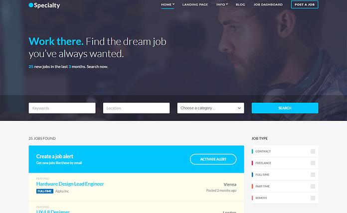 Specialty - Premium Job Board WordPress Theme
