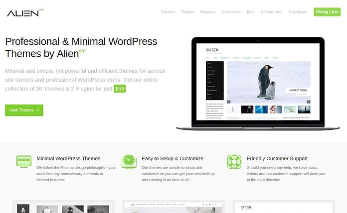 AlienWP - Excellent WordPress Plugin Store