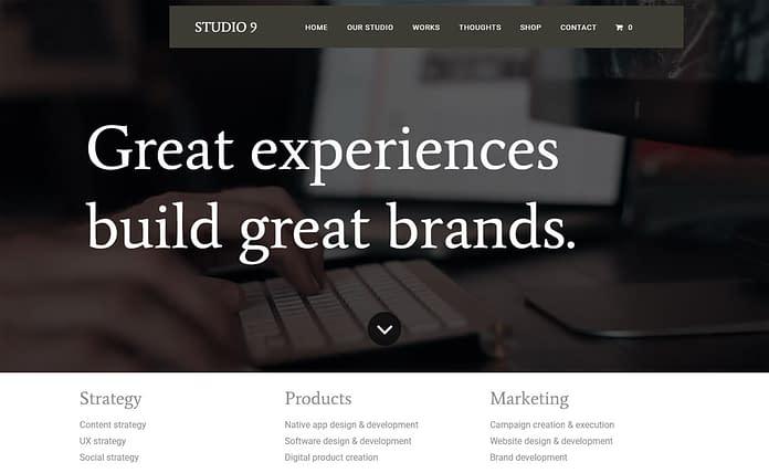 Studio 9 - Premium Business WordPress Theme