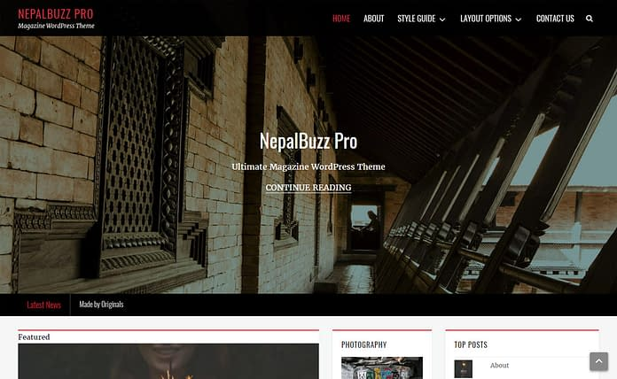 Nepalbuzz - Free Magazine WordPress Theme