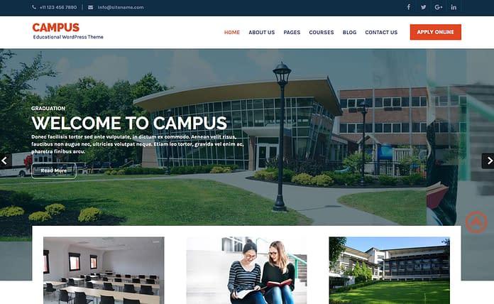Download Campus - Free Education WordPress Theme