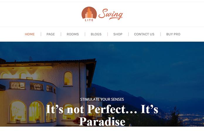 Swing Lite - Free Hotel and Resort WordPress Theme