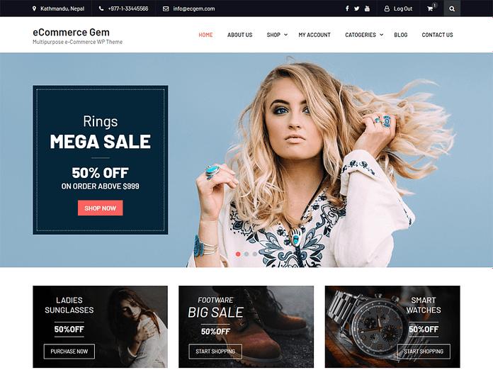 eCommerce Gem WordPress Theme