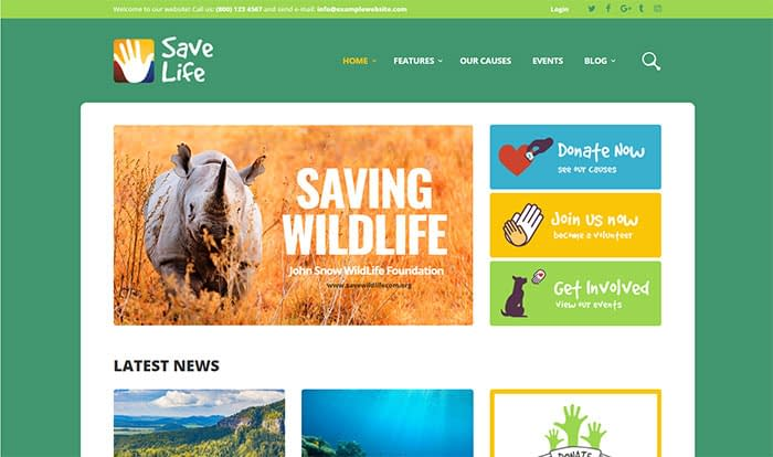 Savelife - Best Selling WordPress Themes in Themeforest 2018