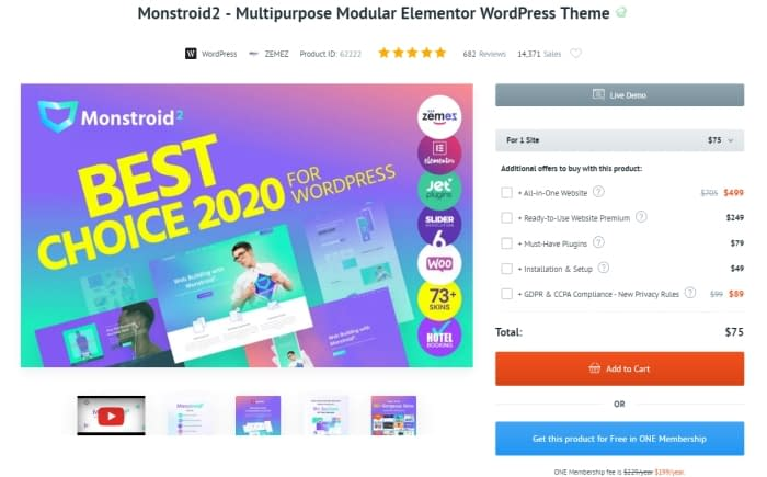 Monstroid2 WordPress Theme Review