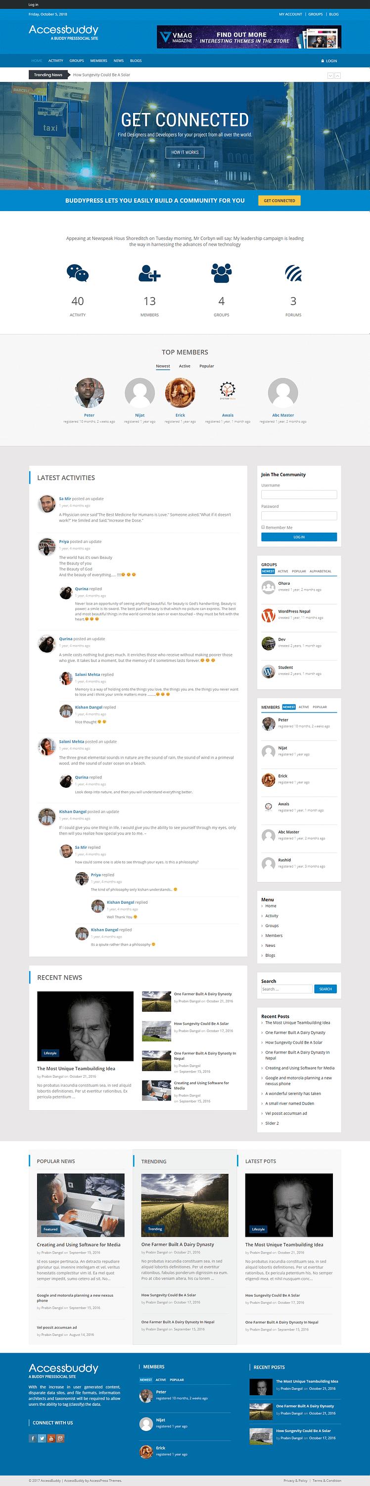 AccessBuddy - Best Free Multipurpose WordPress Theme