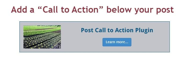 Post Call to Action- Free WordPress Call to Action Plugins