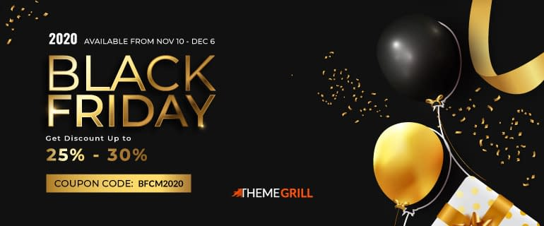 ThemeGrill - Black Friday & Cyber Monday 2020 Deals on WordPress