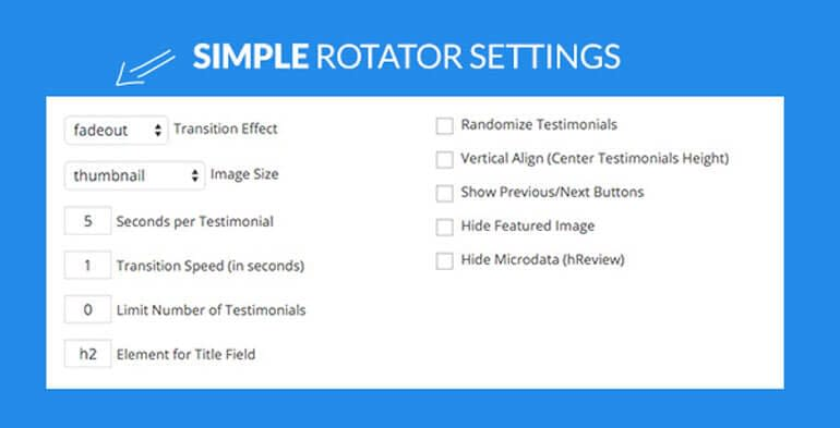Rotator Option - Testimonial Rotator