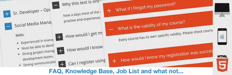HTML5 Responsive FAQ - Free WordPress FAQ Plugins