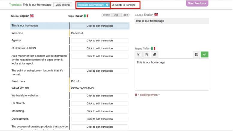 Use Automatic Machine Translation With WPML.