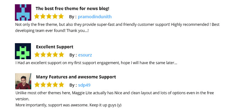 Reviews by users of Maggie Lite