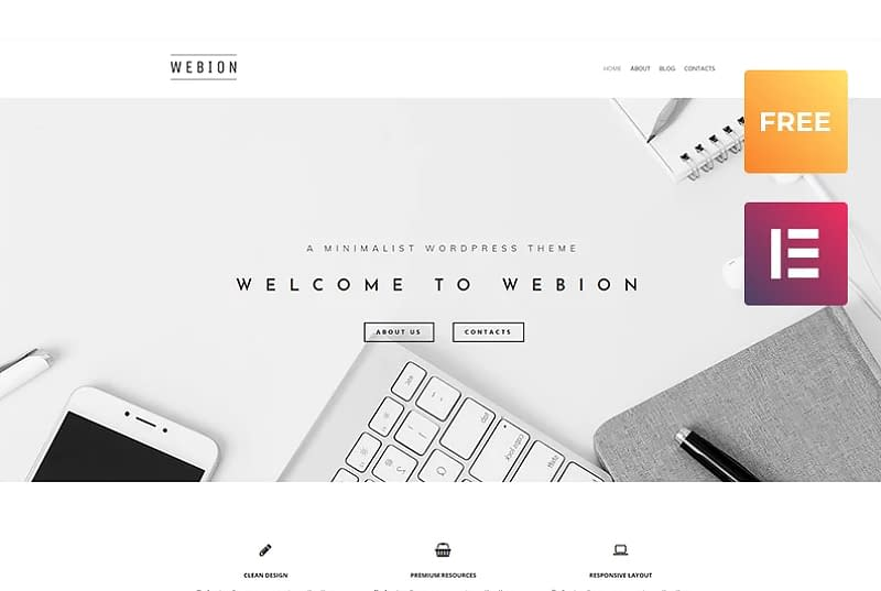 Webion - Elementor WordPress Theme
