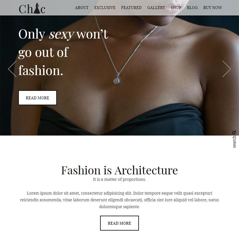 Chic -WordPress feminine blog theme