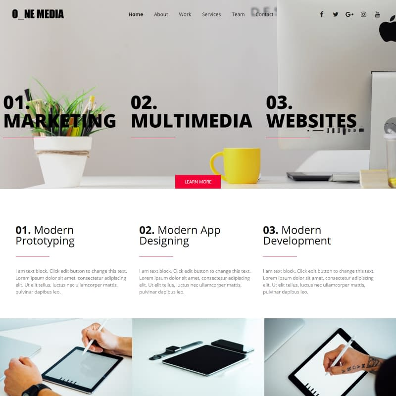 One Media - Elementor WordPress Theme