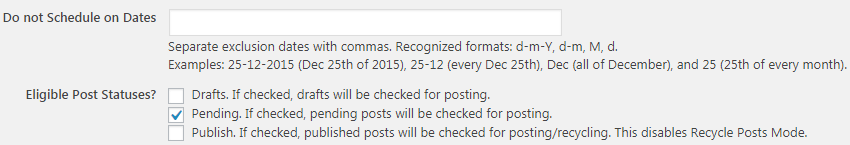 Eligible Post Status