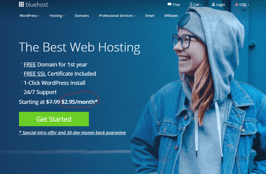 BlueHost - WordPress Web Hosting Review