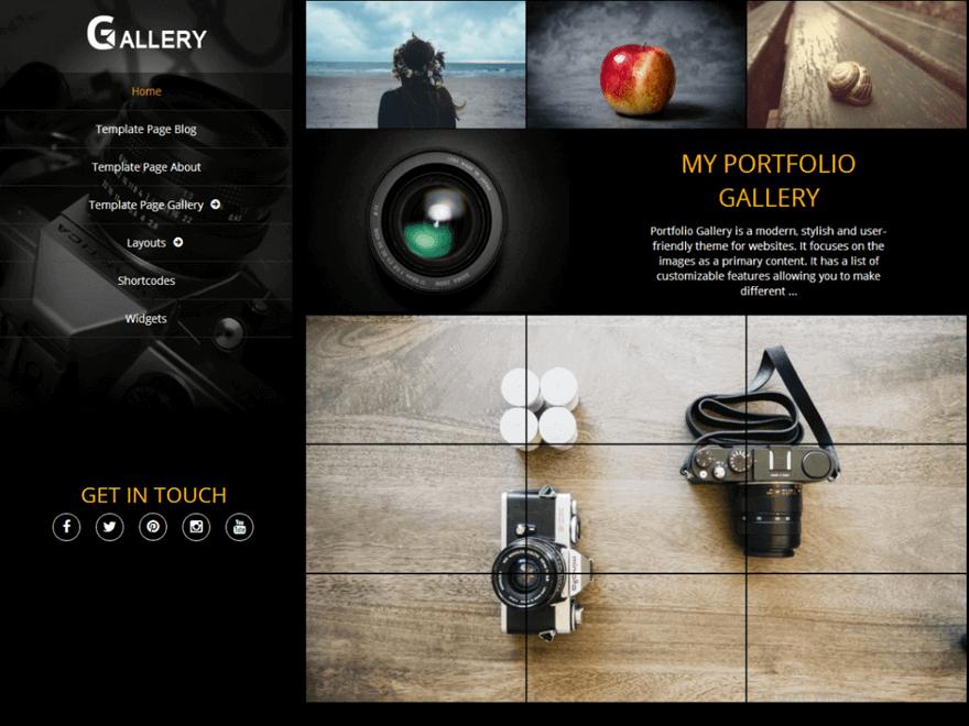 Portfolio Gallery - Free Photography WordPress Theme