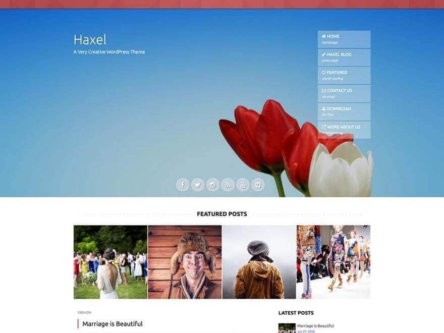 Haxel - Free Photography WordPress Theme