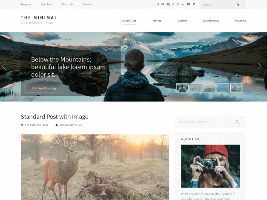 The-minimal - Free Photography WordPress Theme