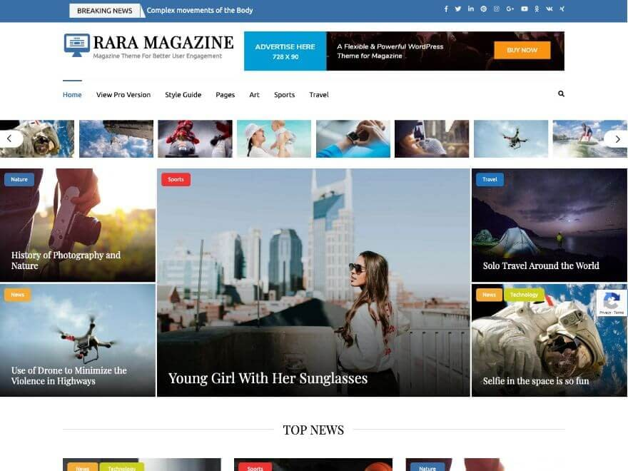 Rara Magazine Free WordPress Theme