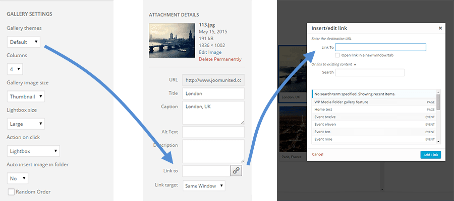 WP Media Folder feature - Default gallery enhancement