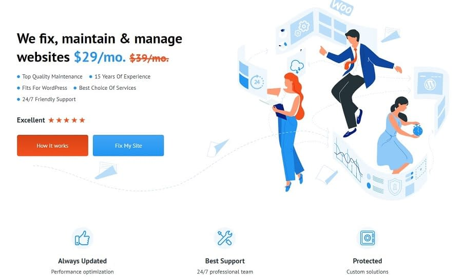 WordPress Maintenance Services and Support – TemplateMonster