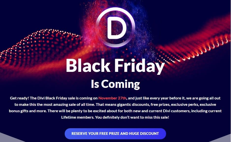 Elegant Themes - Best WordPress Deals for Black Friday and Cyber Monday 2020