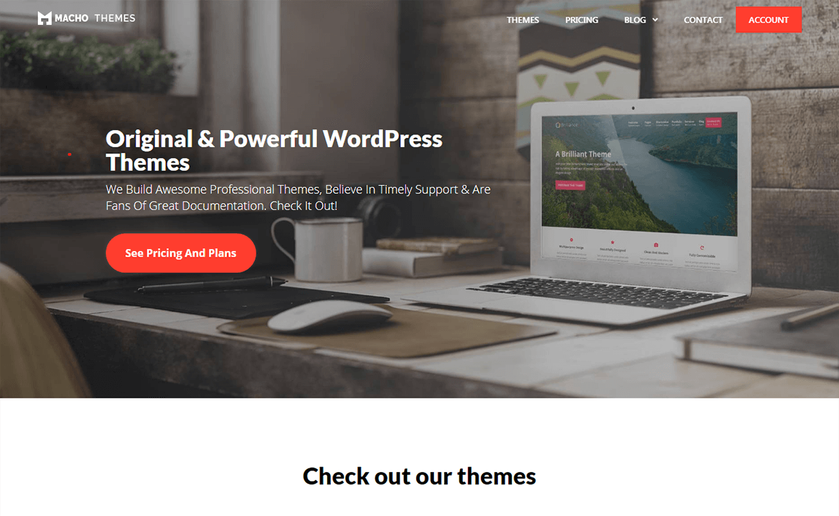 20% Off in Premium and Free WordPress Themes by Macho Themes