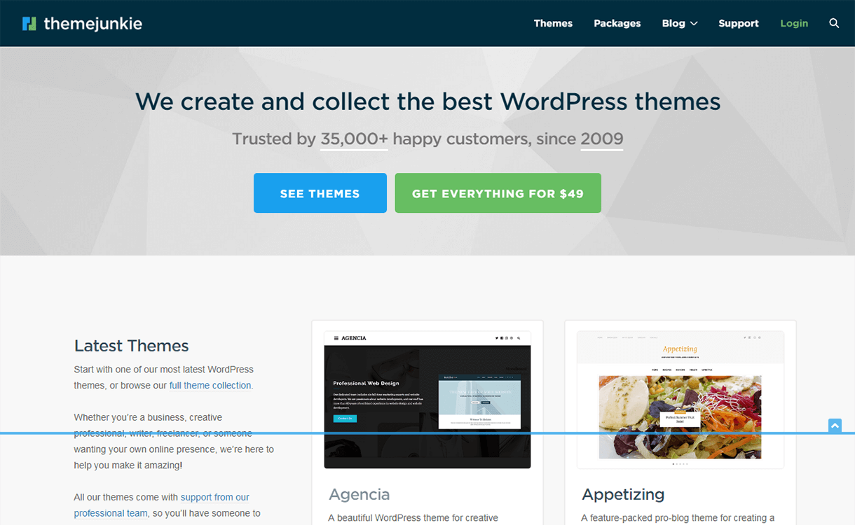 20% Off in Premium WordPress Theme by Theme Junkie