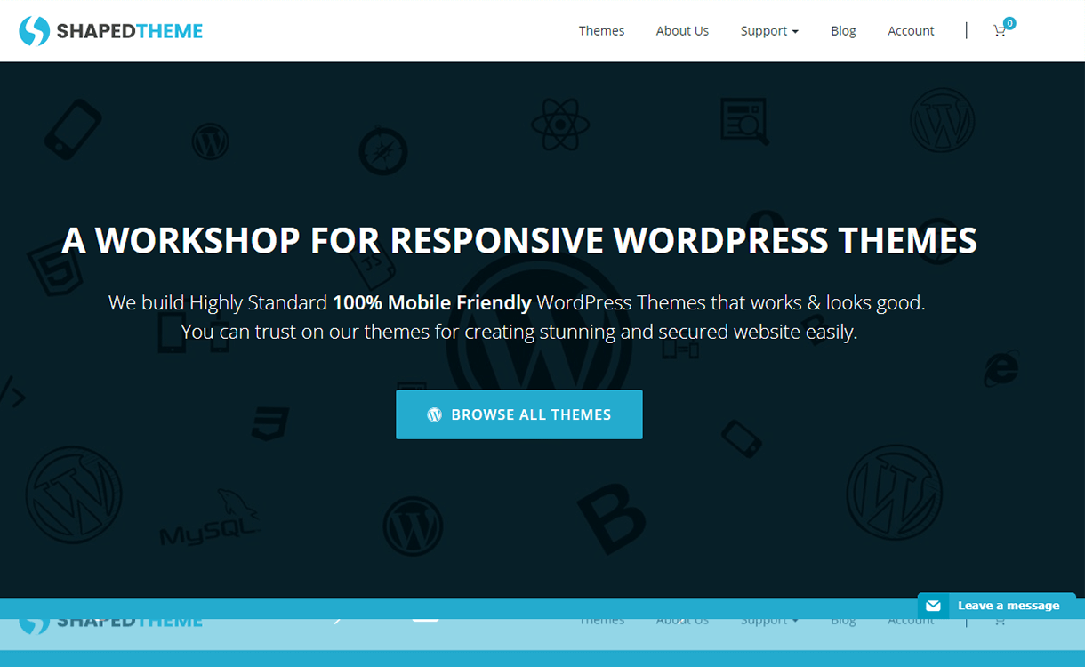 25% Off in Premium WordPress Theme by Shaped Themes
