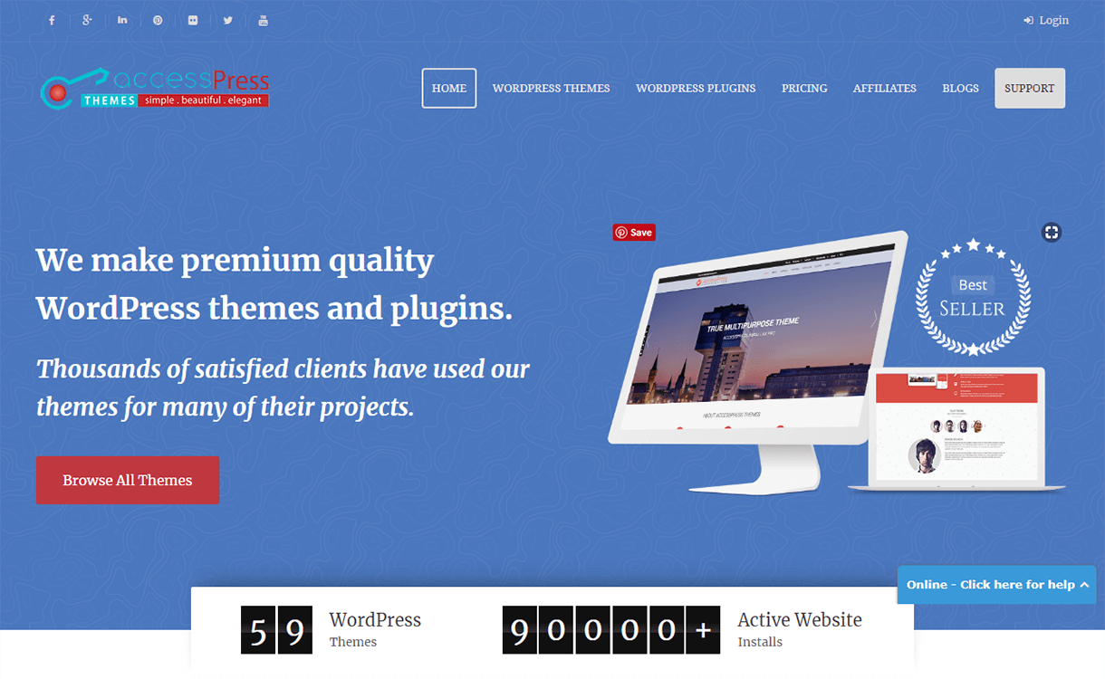25% Off on Premium WordPress Themes by AccessPress Themes