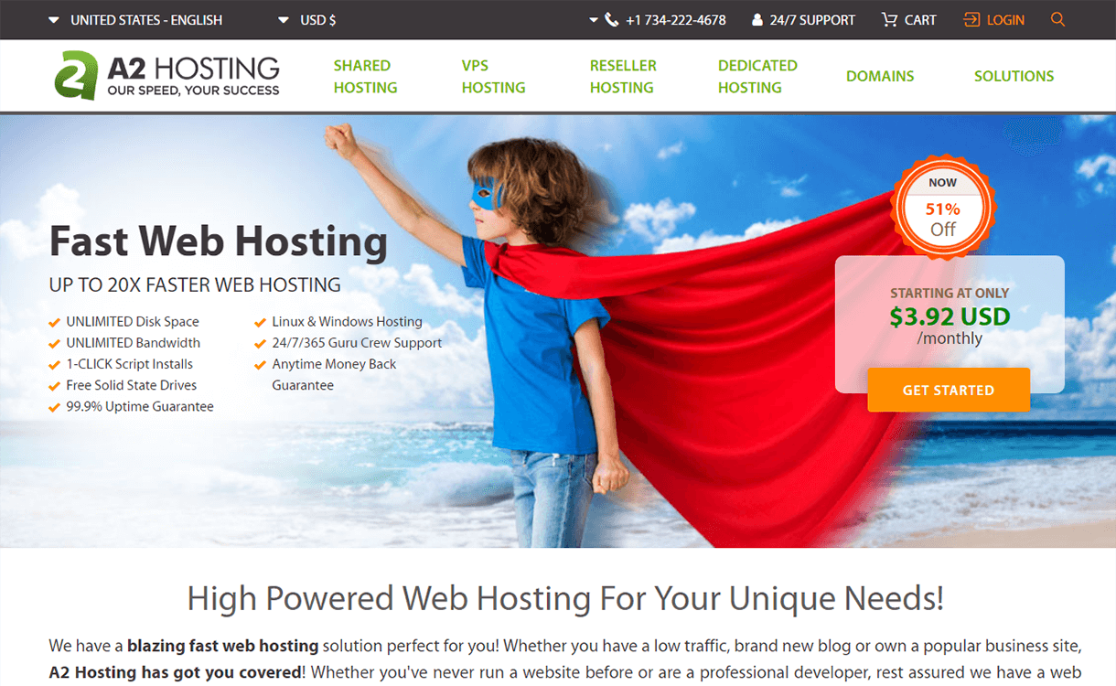 51% Off on Managed WordPress Hosting by A2 Hosting
