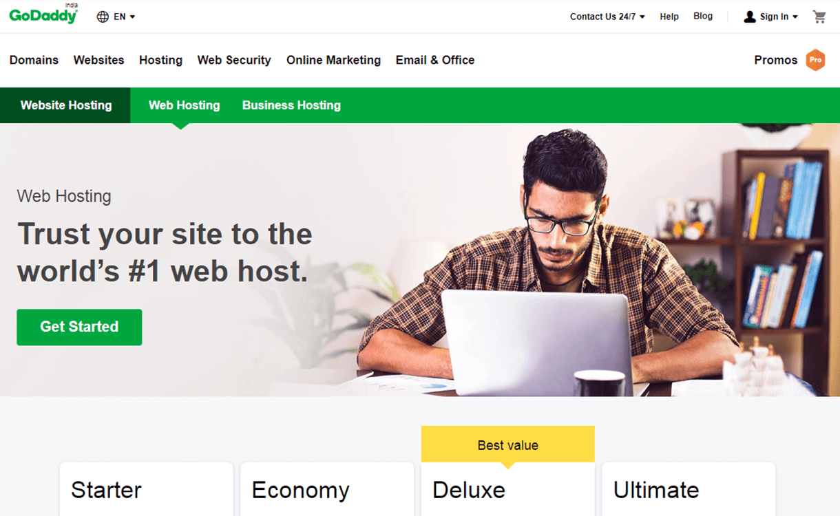 $12 Off per month in WordPress Hosting by GoDaddy