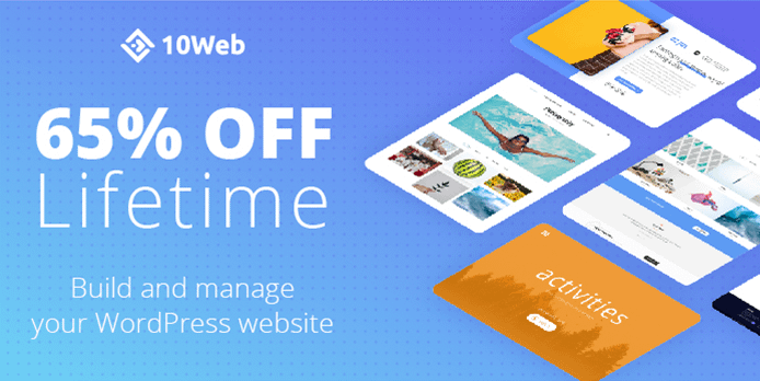 65% Lifetime OFF 10Web – 10-component platform for all your WordPress needs