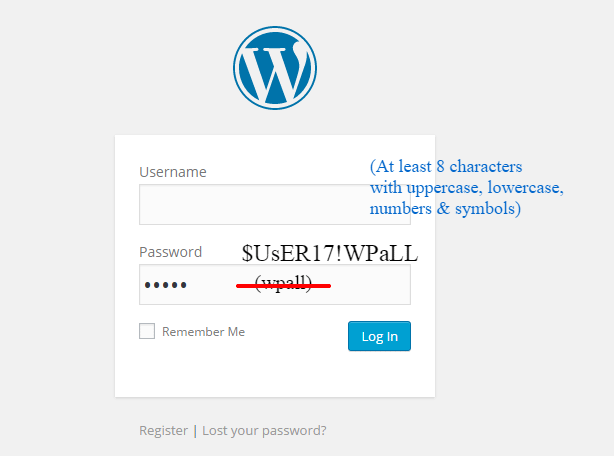 strong password - 15 Simple Tricks to Protect Your WordPress Site From Being Hacked