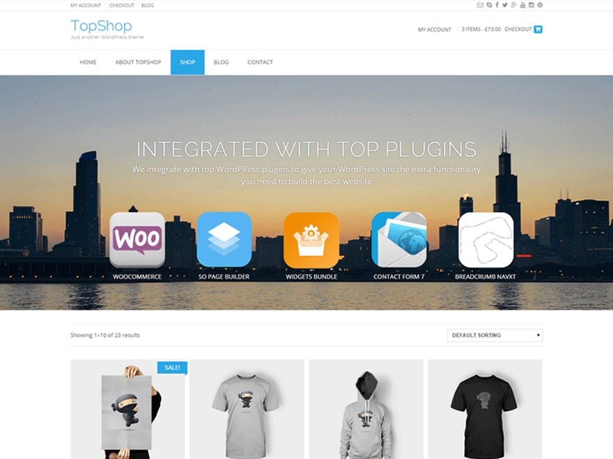 TopShop - 50+ Best Free Responsive WordPress Themes 2019