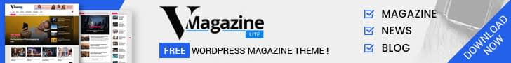 VMagazine Lite - Free WordPress News Magazine Theme