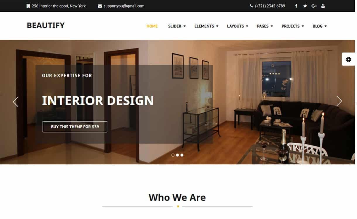 beautify - 21+ Best Free WordPress Themes May 2018