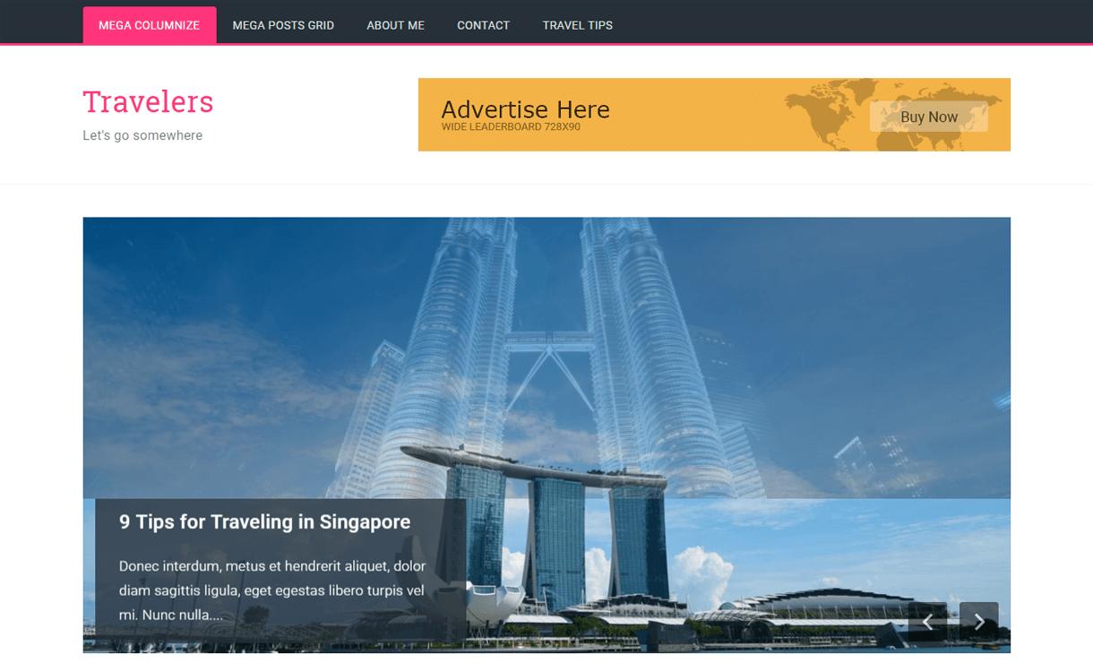 travelers best travel blogs wordpress themes 1 - 21+ Best WordPress Travel Blog Themes 2019