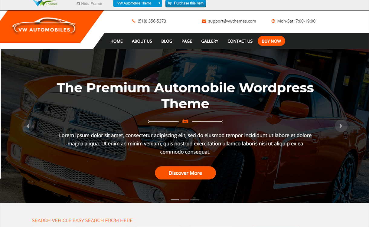 vw automobile lite free wordpress theme - 21+ Best Free WordPress Themes November 2017