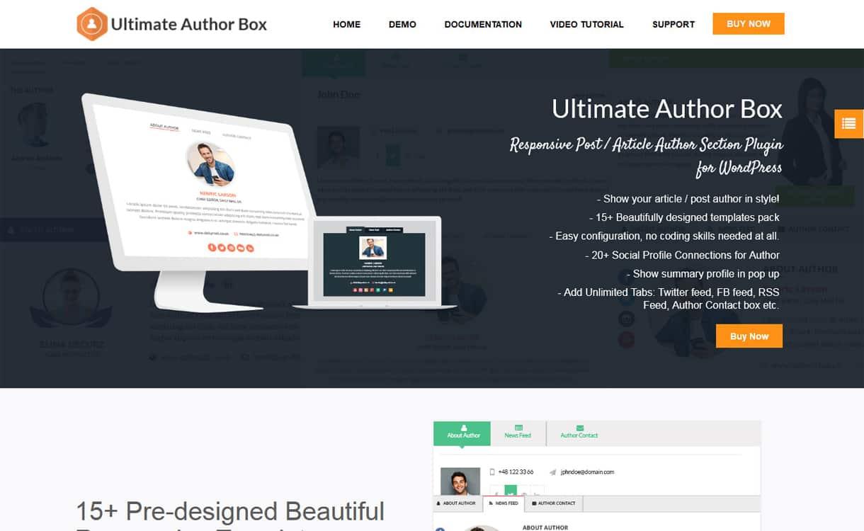 ultimate author box - 5+ Best WordPress Author Bio Box Plugins 2019 (Updated)
