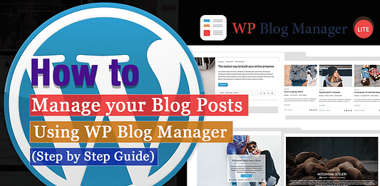 Manage your Blog Posts WPAll Club
